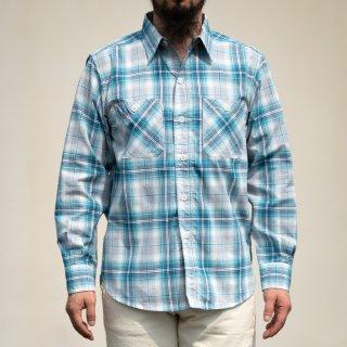 SALON BONCOURA Limited Work Shirt Shadow Plaid blue