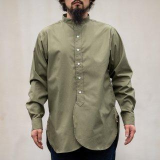 Band Collar Shirt Poplin olive