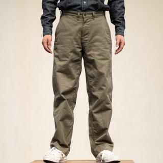 SALON LIMITED Work Pants Military Herringbone olive