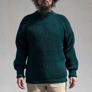 フィッシャーマンセーター グリーン シェットランド Fisher Man Sweater Shetland Wool Green