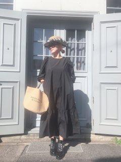 【THE LITTLE BLACK DRESS リトルブラックサテンドレス】