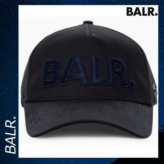 BALR. 【ボーラー】 ネイビーロゴ クラシック キャップ ブラック 帽子 タブ 黒