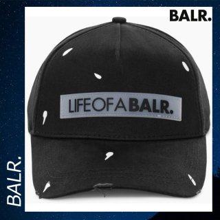 BALR. 【ボーラー】 LIFEOFABALR ペイント クラシック キャップ ブラック 帽子 ロゴ