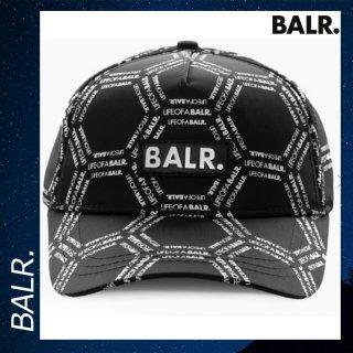 BALR. 【ボーラー】 LOAB ヘキサゴン クラシック キャップ ブラック ホワイト