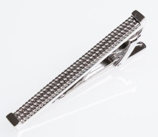 TATEOSSIAN(タテオシアン)タイクリップ 正規取扱店 TC0461-Braided Rhodium 50mm