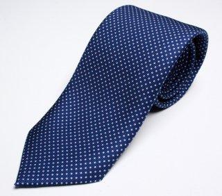 DRAKE'S ドレイクス 英国製ネクタイ 正規取扱店 DRAKE'S-E5080N-06871-2-50ozブルードット