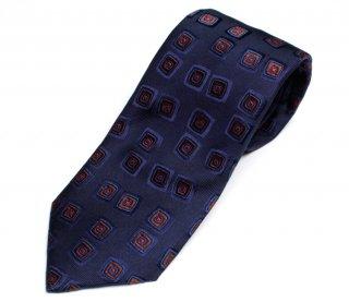 DRAKE'S(ドレイクス)英国製ネクタイ 日本販売店 DRAKE'S-VJR80N-20642-001-幾何学小紋柄