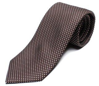 DRAKE'S ドレイクス 英国製ネクタイ 正規取扱店 DRAKE'S-E5080N-06871-6-50ozブラウンドット