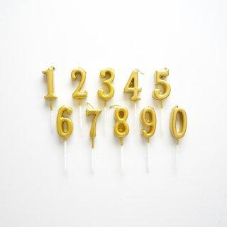 ナンバーキャンドル [01/Gold]