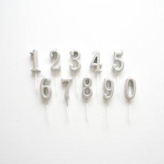 ナンバーキャンドル [02/Silver]