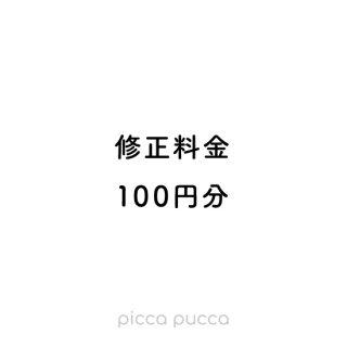 修正料金 100円
