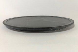 3rd  ceramics/  黒泥皿 7寸