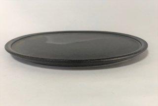 3rd  ceramics/  黒泥皿 8寸