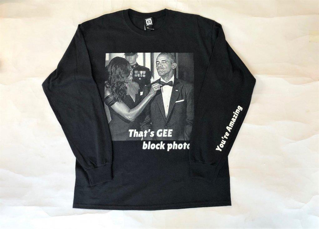 BLOCKPHOTO /   L/S  PRINT TEE