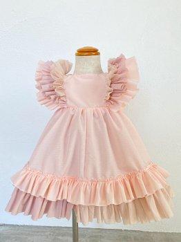 Pink frill dress (80~90size)