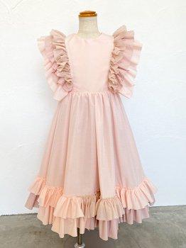 Pink frill dress (110~130size)