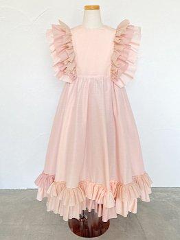 Pink frill dress (140~150size)