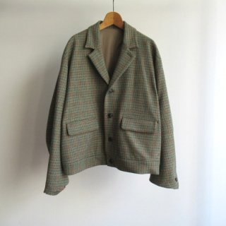 <img class='new_mark_img1' src='https://img.shop-pro.jp/img/new/icons20.gif' style='border:none;display:inline;margin:0px;padding:0px;width:auto;' />URU(ウル) WOOL CHECK SHORT JACKET