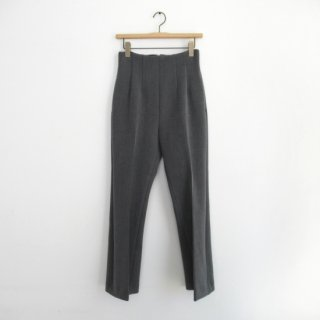 PHEENY(フィーニー) DOUBLE CLOTH HIGT WAIST SEMI FLARED SLACKS [WOMEN]