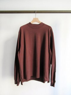 unfil(アンフィル) COTTON FLANNEL JERSEY LONG SLEEVE MOCK TEE