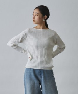 Audrey and John Wad(オードリーアンドジョンワッド) COTTON CASHMERE CREW NECK KNIT PULLOVER [WOMEN]