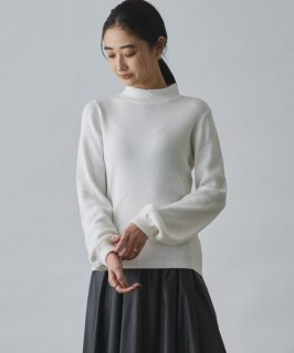 Audrey and John Wad(オードリーアンドジョンワッド) COTTON CASHMERE HIGH NECK KNIT PULLOVER [WOMEN]