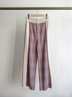 TAN(タン) CHECKED & LINE PANTS [WOMEN]