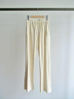 unfil(アンフィル) RAW SILK RIBBED-JERSEY PANTS [WOMEN]