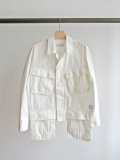PHEENY(フィーニー) COTTON NYLON TUSSAH FATIGUE JACKET [WOMEN]