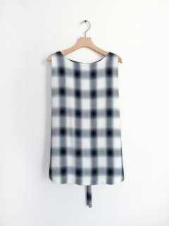 PHEENY(フィーニー) RAYON OMBRE CHECK SLEEVELESS SHIRT [WOMEN]