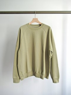unfil(アンフィル) COTTON FRENCH TERRY CREW NECK PULLOVER