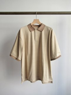 unfil(アンフィル) ORGANIC COTTON STRIPED HALF SLEEVE POLO SHIRT