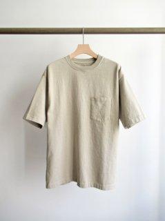 CIOTA(シオタ) スビンコットン 10/- 度詰め 吊り天竺 ポケット付き半袖T