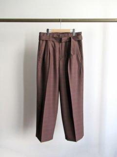 YOKE(ヨーク) HIGH WAIST BELTED PANTS