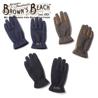 ブラウンズビーチ レザー グローブ ビーチクロス 手袋 BBJ10-013 BROWNS BEACH