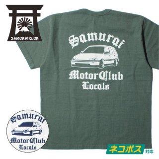 [ネコポス送料200円]サムライジーンズ サムライ自動車倶楽部 SAMURAI CLUB Tシャツ LOCALS SMT19-101
