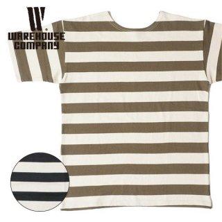 ウエアハウス WAREHOUSE 半袖 2インチボーダー Tシャツ 4050