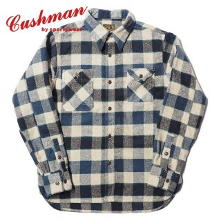 クッシュマン フランネル チェック ワークシャツ 長袖 25541 CUSHMAN