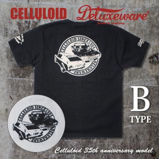 限定 セルロイド別注 デラックスウエア プリント Tシャツ 半袖 B TYPE BSP-CL2 DELUXEWARE