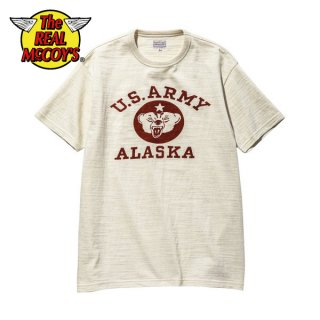 ザ リアルマッコイズ ミリタリーTシャツ 半袖 AMERICAN ATHLETIC TEE / U.S. ARMY ALASKA MC20021 THE REAL McCOY'S