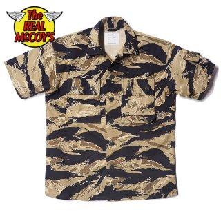 ザ リアルマッコイズ タイガーカモフラージュ シャツ 半袖 TIGER CAMOUFLAGE S/S SHIRT / GOLD TONE MS20001 THE REAL McCOY'S