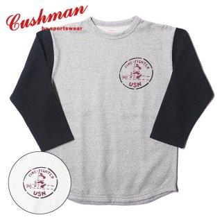 クッシュマン ミニパイルベースボールTシャツ FIRE FIGHTER MINI PILE BASEBALL TEE 26601 CUSHMAN
