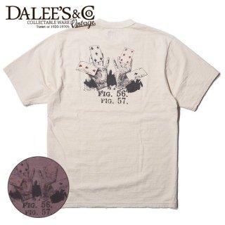 ダリーズ&コー スラブ Tシャツ ポーカー 半袖 OLD POKER AD20T-B DALEE'S&CO