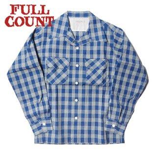 フルカウント インディゴ パラカチェック オープンカラーシャツ 半袖 INDIGO PALAKA CHECK OPEN COLLAR SHIRT 4034 FULLCOUNT