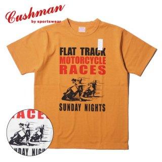 クッシュマン プリント Tシャツ 半袖 PRINT TEE FLAT TRACK RACE 26607 CUSHMAN