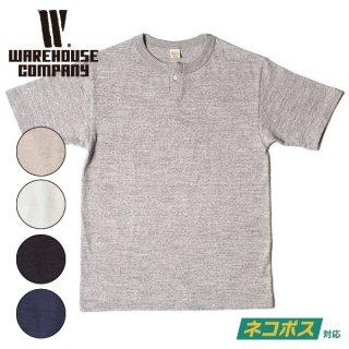 [ネコポス送料200円]ウエアハウス 1ボタンヘンリーネックTシャツ HENLEY SHIRT S/S  無地 半袖 4082 WAREHOUSE[2021年春夏新作]