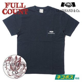 [ネコポス送料200円]フルカウント×グラッドハンド コラボ Tシャツ DRAGON T SHIRT GHT-003 GRAD HAND FULLCOUNT