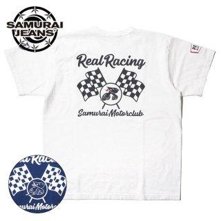 サムライジーンズ 自動車倶楽部 リアルレーシング プリントTシャツ 半袖 SMT20-104 SAMURAI JEANS