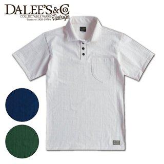 【7-8月入荷予定】ダリーズ&コー プリント ホリゾンタルカラー ポロシャツ 半袖 30s CLASSIC COLLAR SC20T-B DALEES&CO