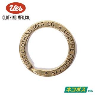 [ネコポス送料200円]ウエス 真鍮キーリング 二重 89-DR UES